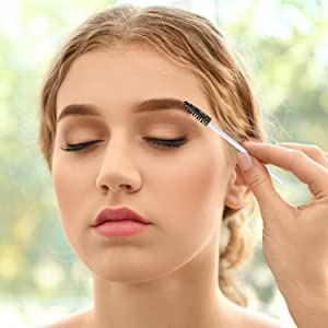 eBoot 300 Pieces Colored Disposable Mascara Wands Eyelash Eye Lash Brush Makeup Applicators Kit (White Handle, Multicolor Head) (Color: White Handle, Multicolor Head)