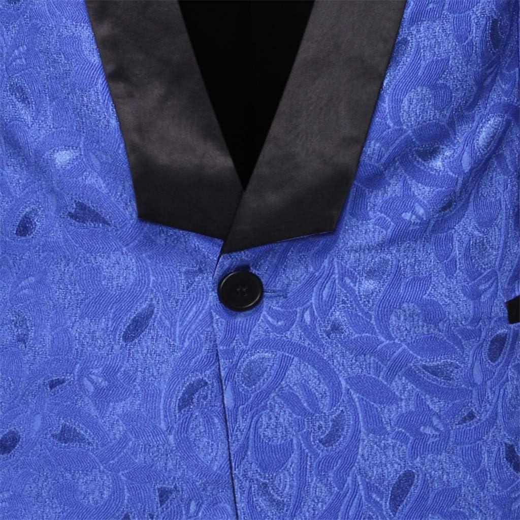 JAMZER Hot Sale Mens Wedding Blazer Jacket Casual Paisley One Button Suit Jacket Slim Fit Tuxedo Print Coat