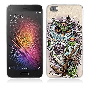 Funda Xiaomi Mi5-Fubaoda-Alta Calidad Serie de la Pintura,Buho de ...