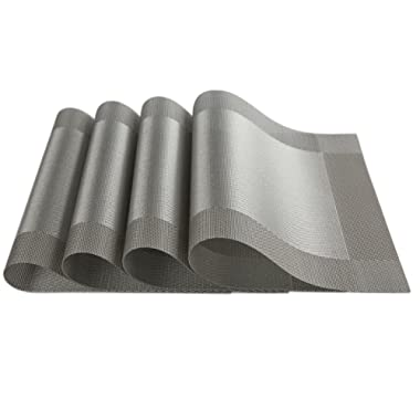 SICOHOME Placemats,Vinyl Dining Room Placemats Table,Set of 4