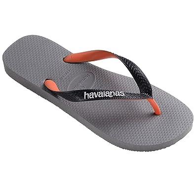 9f4d41b48 Havaianas Womens Top Mix Brasil Rubber Beach Brazil Flip Flops Sandals -  Steel Grey - 8