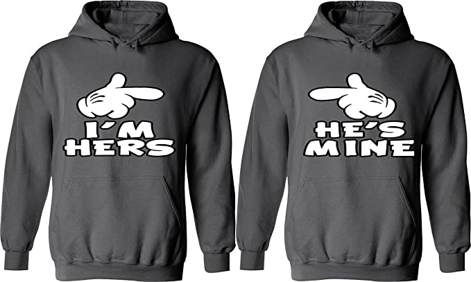 online store 72361 6c883 I m Hers   He is Mine - Matching Couple Hoodies - His and Her