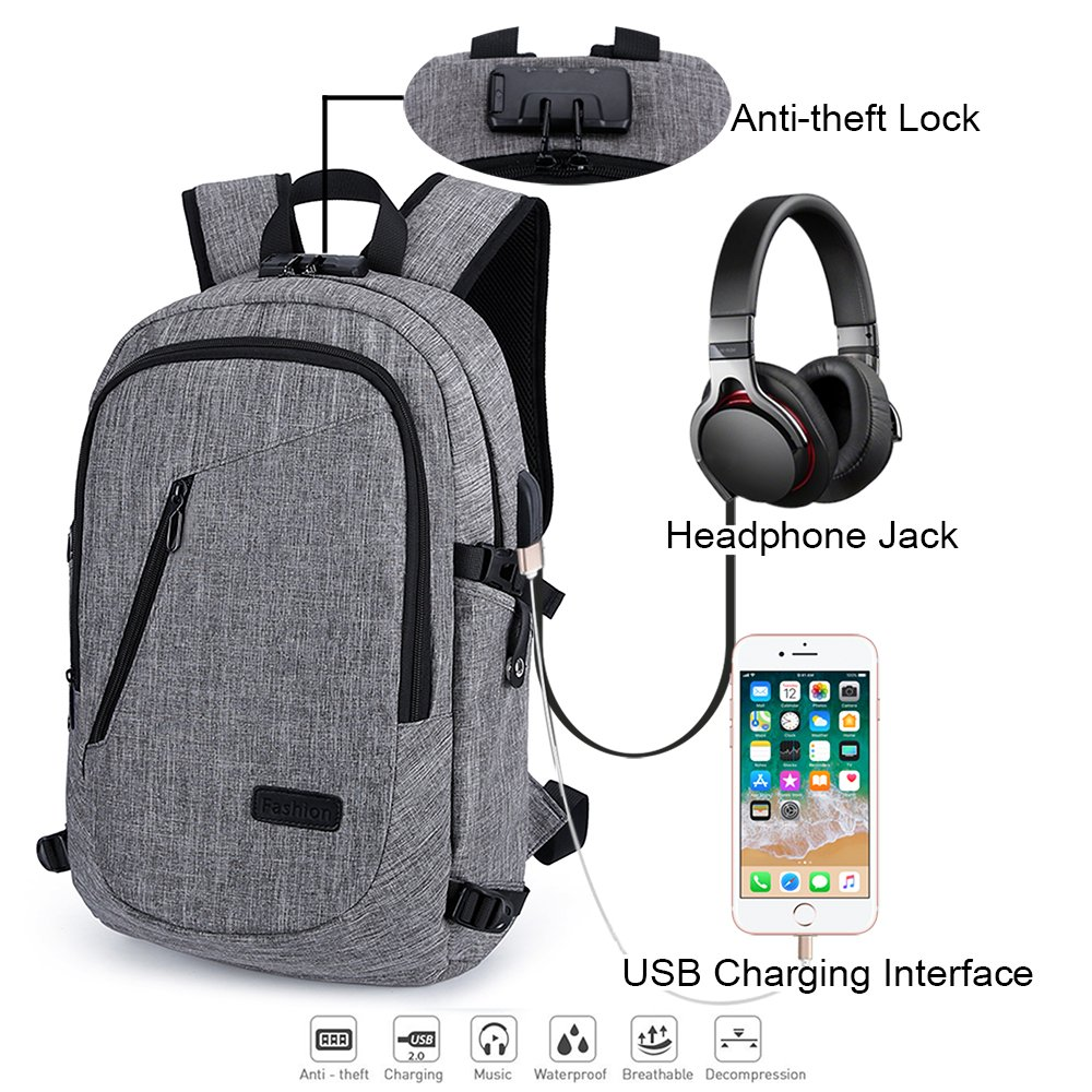 8eedfa4dd free shipping School Laptop Backpack, Anti-Theft & Water-resistant Business  Backpack,