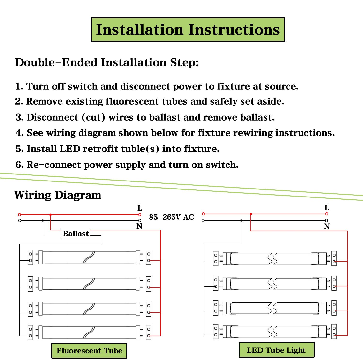 4 Wire Diagram For Led Tube Fixture Wiring Library