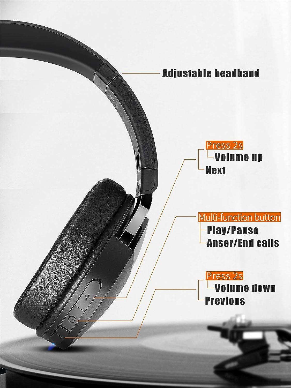 Casque Bluetooth sans Fil Beexcellent Q7 Casque Audio St/ér/éo Hi-FI 40 Heurs de Lecture Bluetooth 5.0 avec Microphone Int/égr/é CVC 6.0 Over-Ear Compatible T/él/éphone Tablette PC