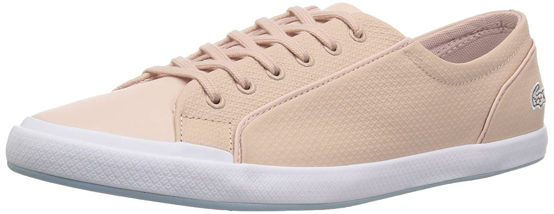 Lacoste Women's Lancelle 6 Eye Sneakers B071GQ3X85 8.5 B(M) US|Natural/Light Blu Leather