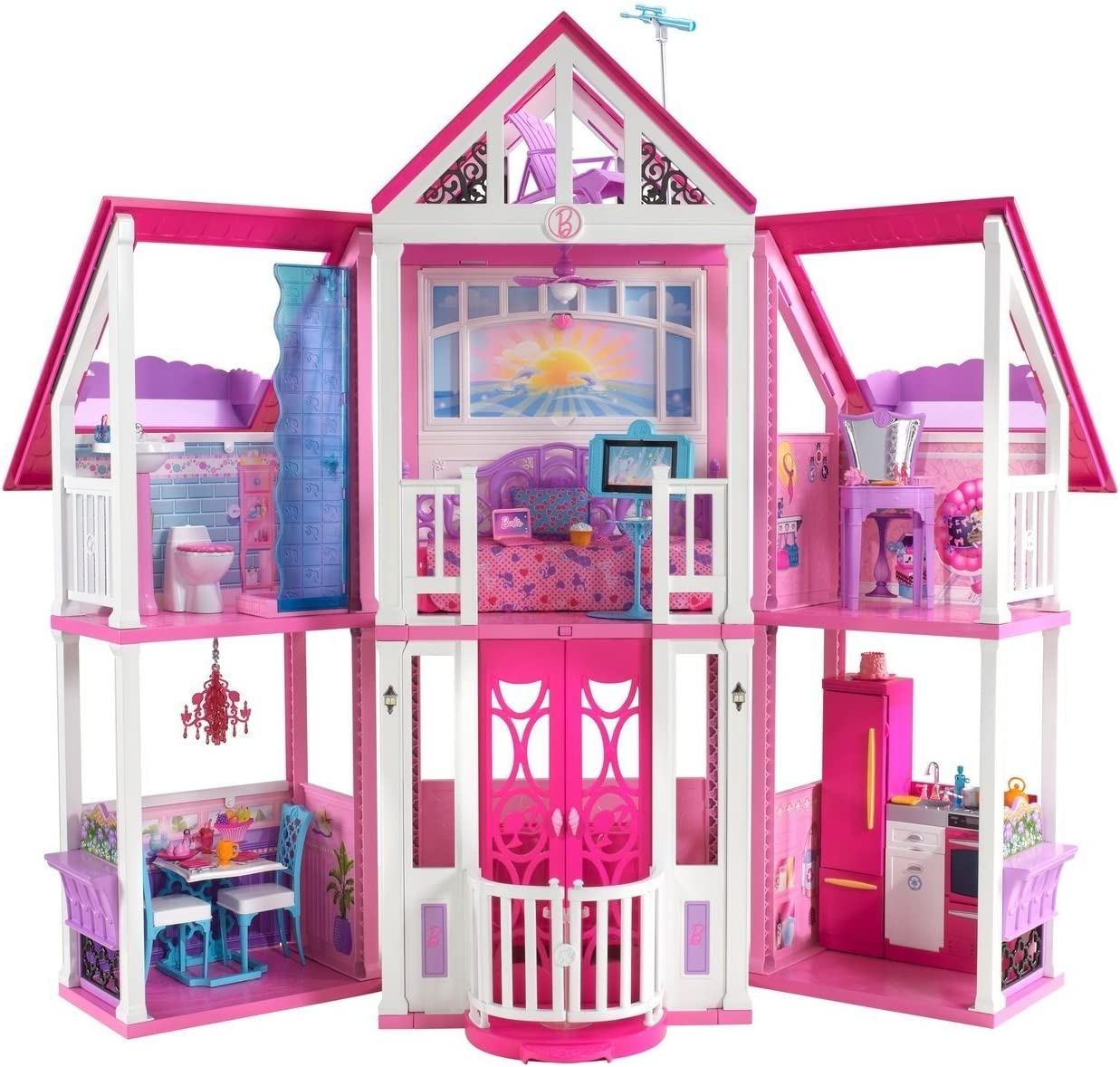 Amazon.com: Barbie Malibu Dreamhouse: Toys \u0026 Games