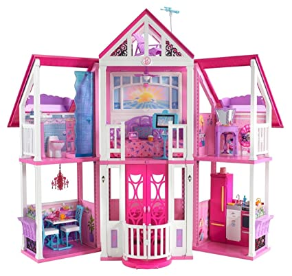Amazon Com Barbie Malibu Dreamhouse Toys Games