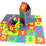 36 pcs 12x12cm/piece Alphabet Letters Puzzles EVA Foam Mat Math Numbers Counting Educational Toys Floor Tiles Camping Blanket For Childrens Baby Palying IQ Brain Teaser