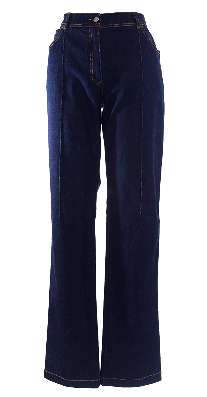 MARINA RINALDI by MaxMara Benn Dark Wash Boot Cut Denim Jeans 12W / 21