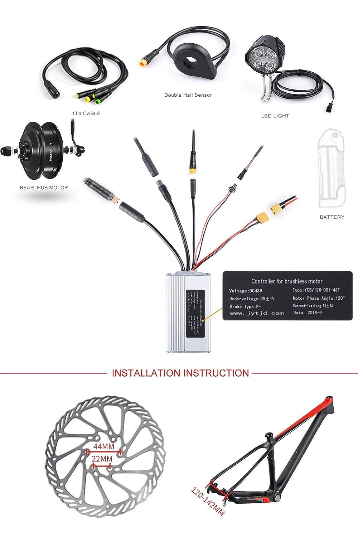 Amazon com : BAFANG 48v 500W Rear Hub Motor Kit Ebike