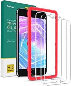 Deyooxi Protector de Pantalla para iPhone 6 Plus/iPhone 6s Plus/iPhone 7 Plus/iPhone 8 Plus,3 Unidades Cristal Vidrio Templado Pantalla Protectora, Alta Definicion,Transparente