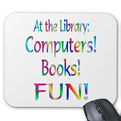 amazon com zazzle library fun mouse pad office products