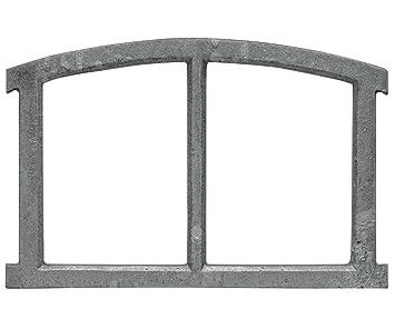 Fenêtre De Grange à Barreaux Fer Forgé Rouille Style Antique 40cm