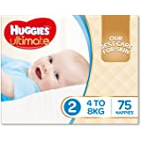 Huggies Ultimate Nappies, Boys, Size 2 (4-8kg), 75 Count