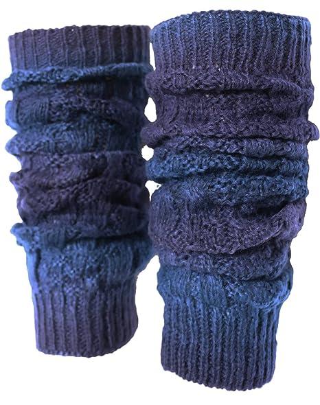 Amazon Kmystic Tie Dye Gradient Knit Leg Warmers Navy Clothing