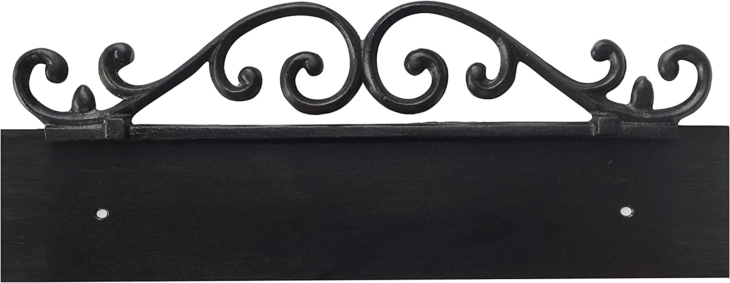 NACH KA 5 Address Sign Plaque for House Numbers, Old World, Cast Iron, 5