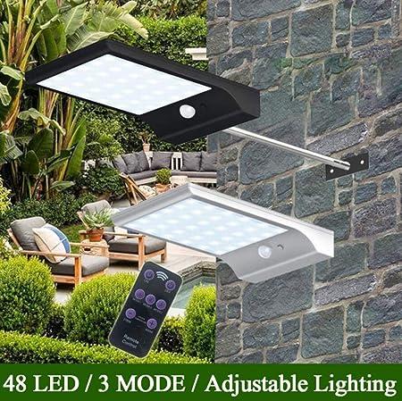 HUI Focos Solares Luces Solares LED Exterior Jardín con Sensor De ...