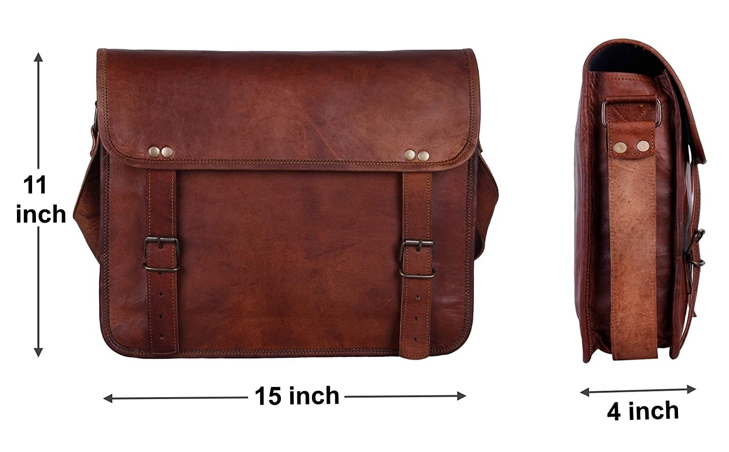 13 Handmade Leather Messenger Bag Satchel Leather Laptop Bag By Rustic Town Rustic Town Inc SHS131004KR-0HNP