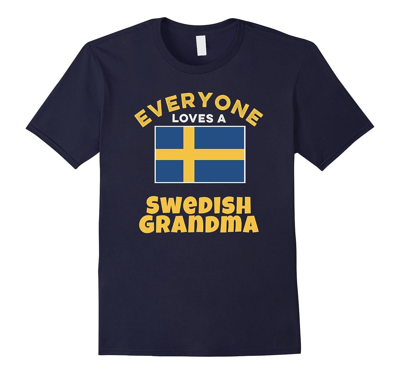Swedish Flag Tshirt Shop - Swedish Grandma Family Tee-Vaci