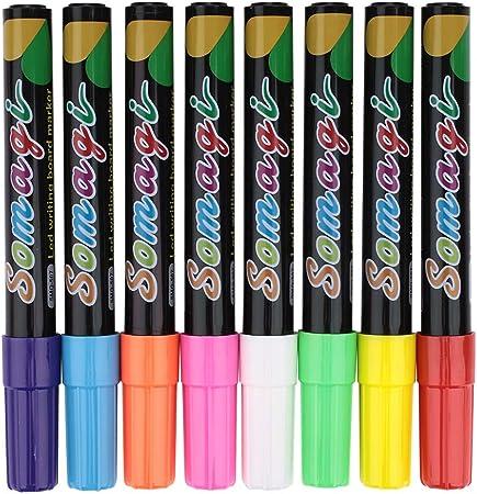CXZC Marcadores de Tiza líquida, lápices de neón de Pizarra de 8 Colores, Pintura y Dibujo para niños y Adultos, pizarras, Ventana, Vidrio, borrable: Amazon.es: Hogar