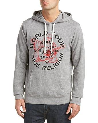 a94946a7742e True Religion Men s Rock Tour Pullover Hoodie Sweatshirt in Heather Grey  (XXX-Large