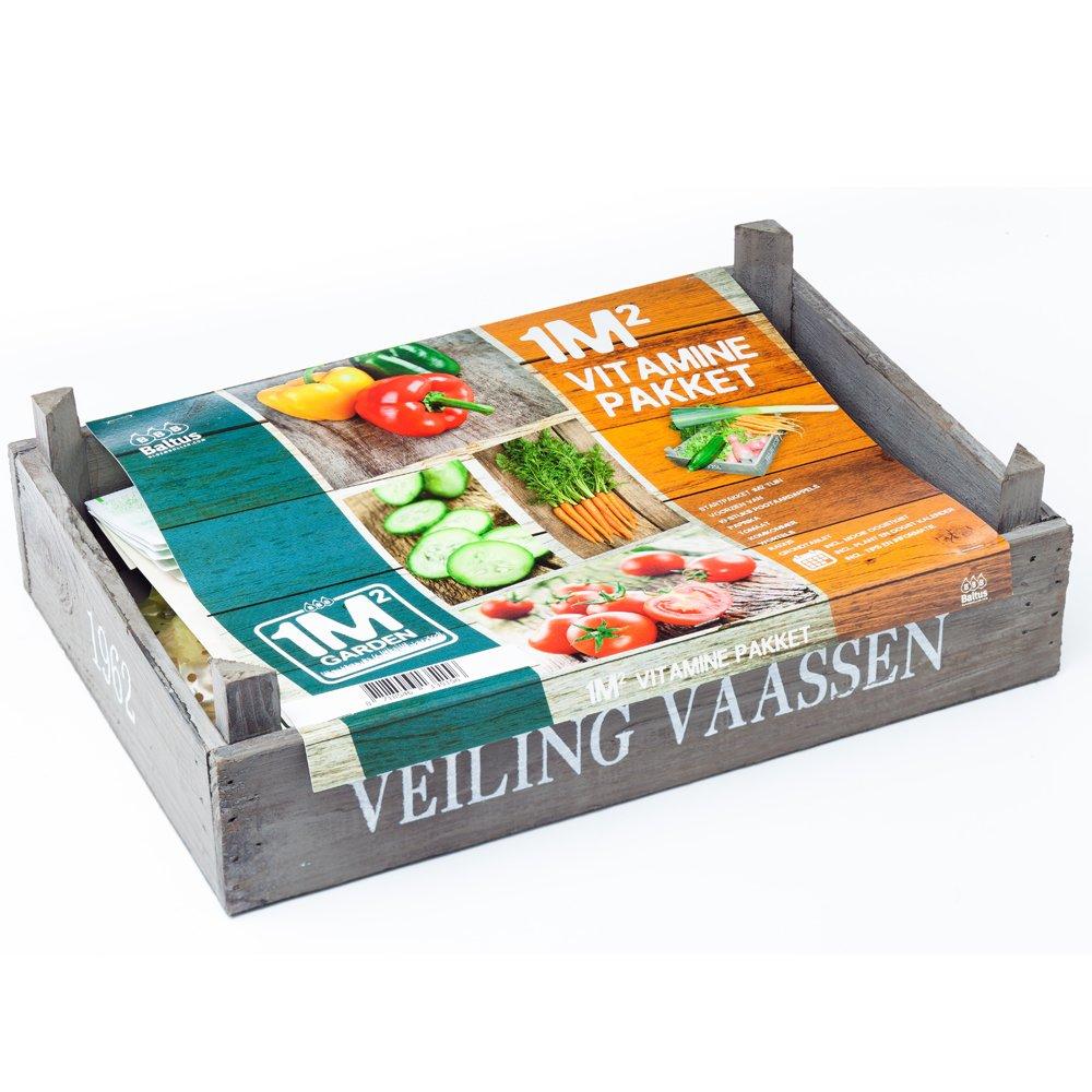 geschenkartikel-shopping Pflanz Set m² Vitamin-Paket Samen-Set Garten Pflanzen Blumenzwiebel Paprika Tomate (groß)