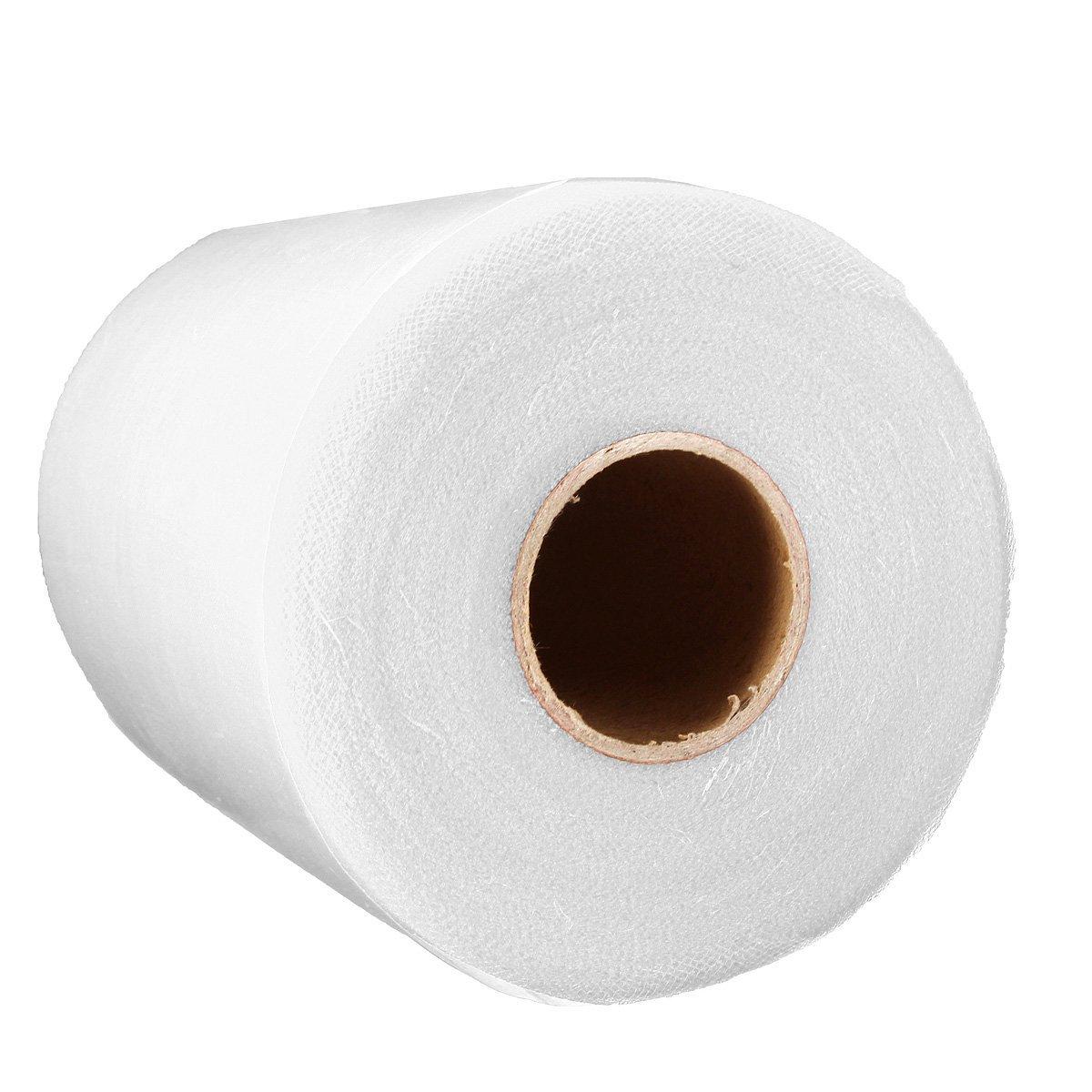 SODIAL(R) Soft 6x100yd Tulle Roll Spool Wedding Craft Bridal Wrap Party Decor 6x300' New milk white