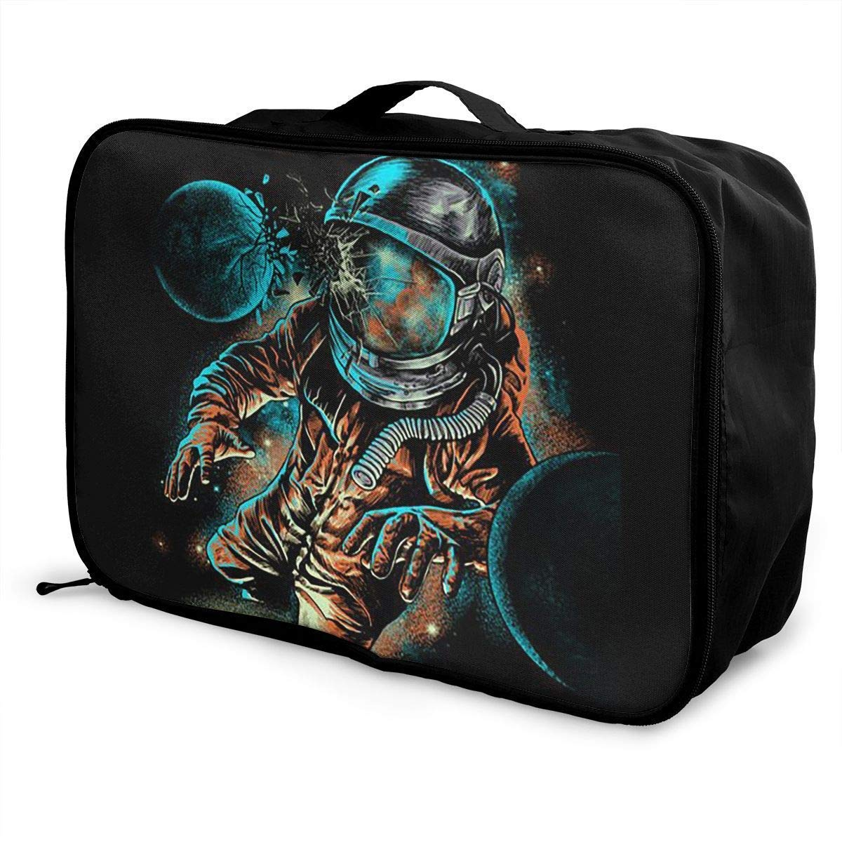 JTRVW Luggage Bags for Travel Portable Luggage Duffel Bag Space Astronauts Travel Bags Carry-on in Trolley Handle