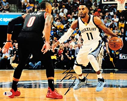 126341072 Mike Conley Autographed Signed Memphis Grizzlies 11x14 Basketball Picture -  Beckett Authentication D86515