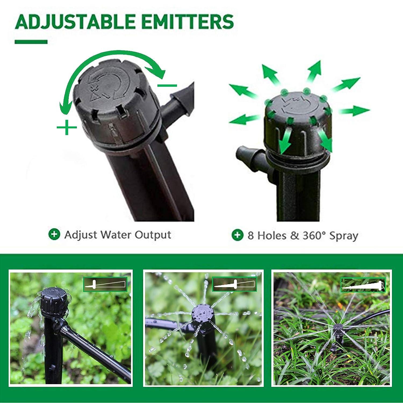 Adjustable Garden Water Flow Irrigation Dripper Sprinkler Emitter Drip System RT