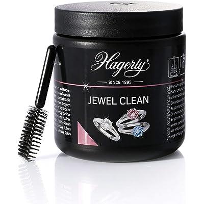 HAGERTY - Jewel Clean - Limpieza por inmersión de joyas de oro, platino y piedras preciosas: diamante, zafiro y rubí - 1 unidad 170 ml - Brillante en 2 minutos.