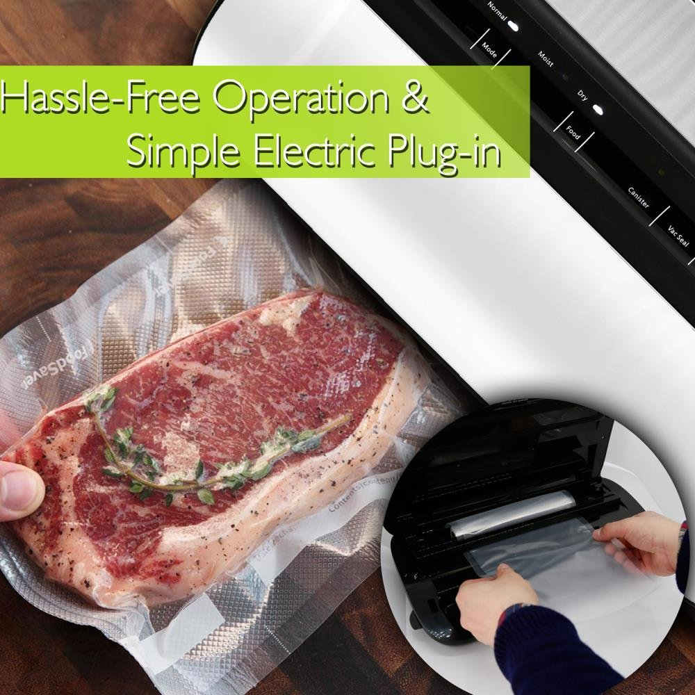 NutriChef Automatic Handheld Vacuum Sealer Machine - Simple & Compact Fresh Saver Meal - with Built-In Roll Storage & Cutter - Dry, Moist & Marinate Food Modes (Stainless Steel) by NutriChef (Image #6)