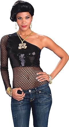 Amazon Com Womens 90 S Punk Rocker Sequin Fancy Dress Party Outfit