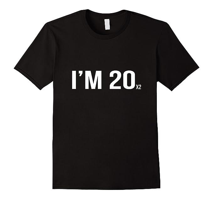 Mens Funny 40th Birthday Gift Men Women Gag Husband Wife Tee 2XL Black