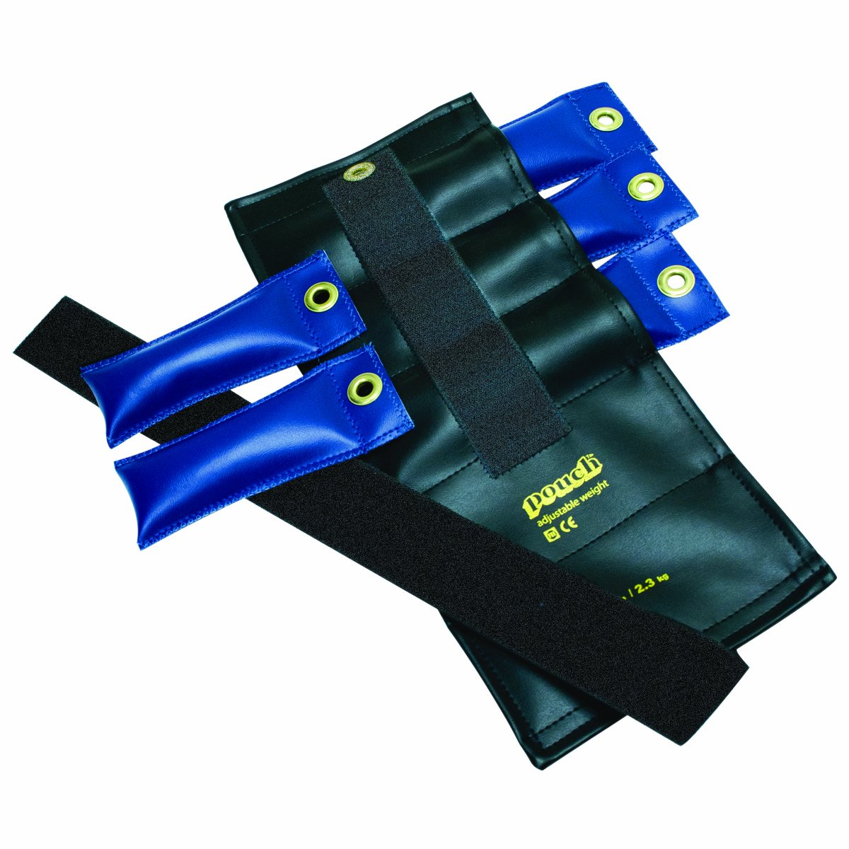 the Cuff 10-0301 Pouch Variable Wrist and Ankle Weight, 5 lb, 5 x 1 lb Inserts, Black