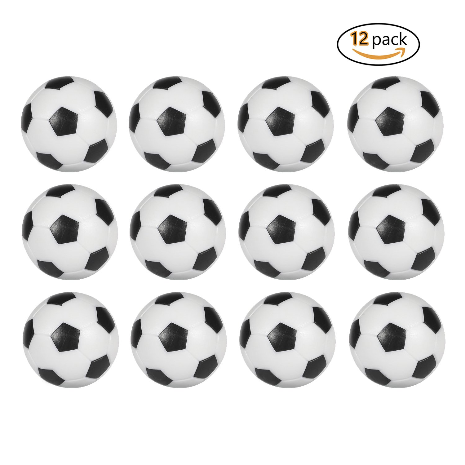 Amazon.com : Table Soccer Foosballs Replacement Balls Mini Black And White  36mm Official Foosball 12 Pack : Sports U0026 Outdoors