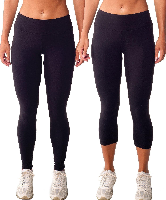 2 Pack Black Tiger Tummy Control Shapewear Pants/Capris