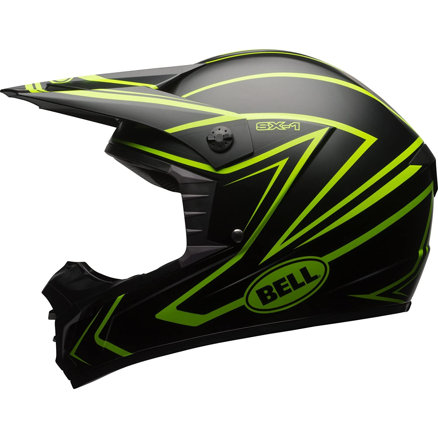 Amazon.es: Bell MX SX-1 Motocross Off Road Moto Casco - Látigo camuflaje rojo