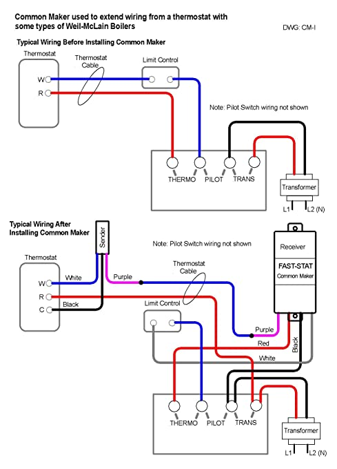 71th thermostat wiring diagram 71th image wiring amazon com fast stat common maker thermostat wire extender adds on 71th thermostat wiring diagram