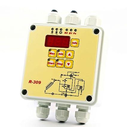 Tecso r-309 centralita de control para paneles solares térmicos
