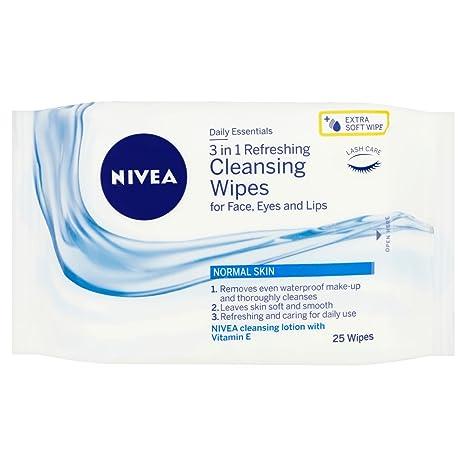 Nivea visage - Toallitas limpiadoras faciales refrescantes, pack de 6 (6x25 unidades)