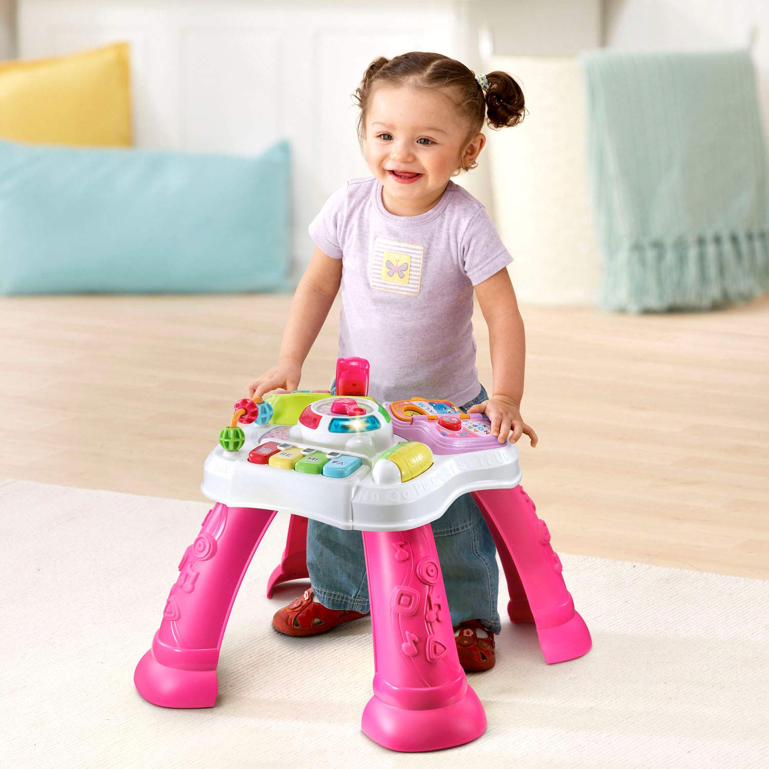 VTech Sit-To-Stand Learn & Discover Table, Pink by VTech (Image #5)