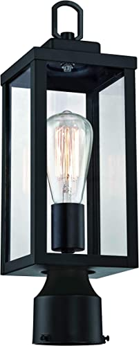 WISBEAM Outdoor Post Light, Pole Lantern, E26 Base 100W Max, Aluminum Housing Plus Glass, Wet Location Rated, ETL Qualified, Bulbs not Included