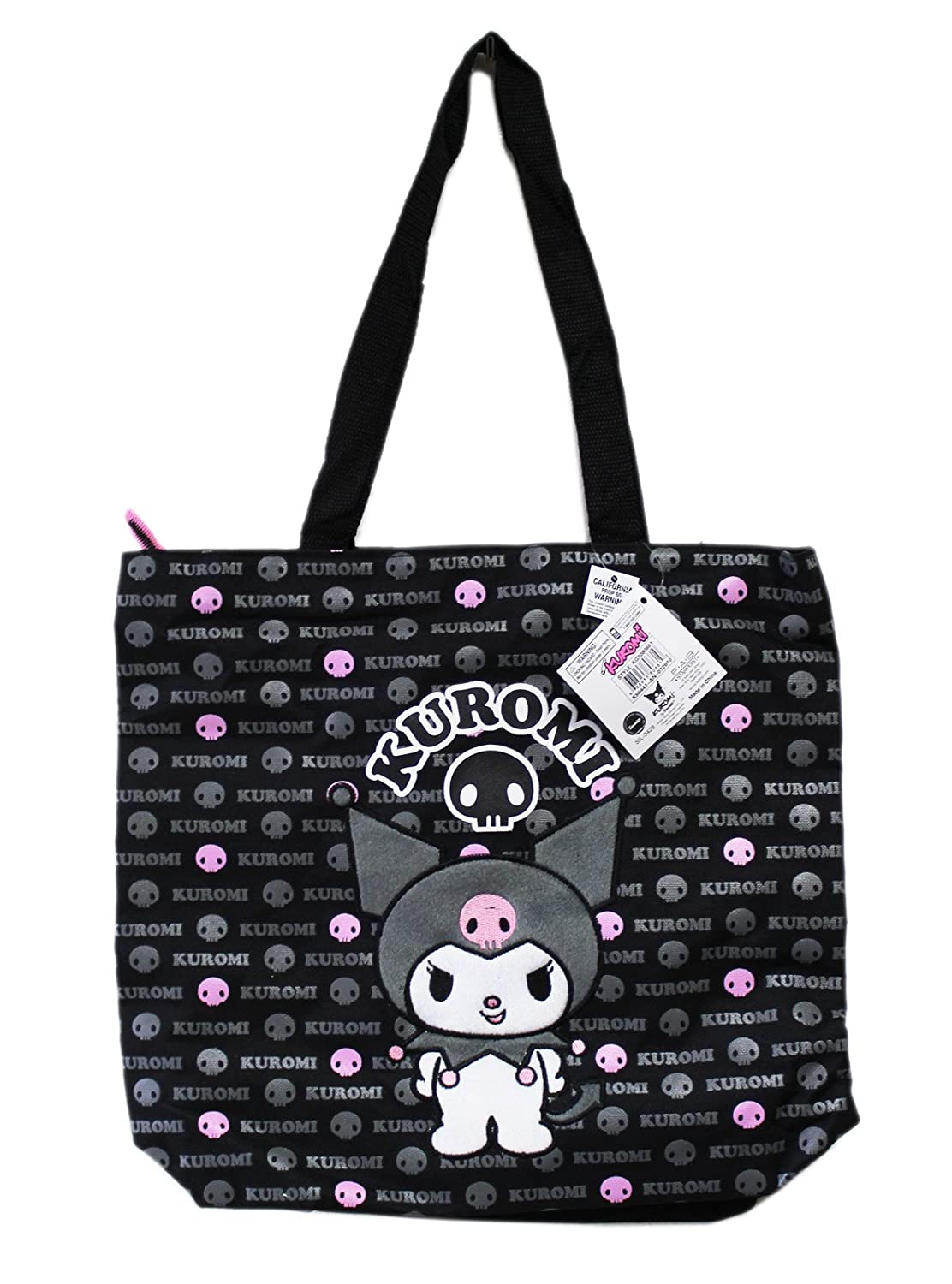 amazoncom black and pink kuromi tote bag large tote bag travel totes luggage beauty - Large Tote Bags