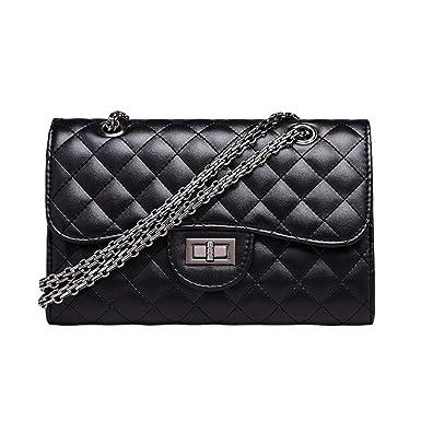 Einfache Wilde Frau Tasche Schultertasche Handtasche Mode Umhängetasche,Black-OneSize GKKXUE