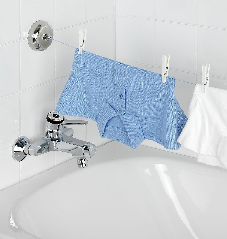 Wenko 3726410100 wäscheleine bath   2,5 meter, ausziehbar mit ...