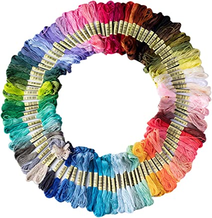 Friendship Bracelet String 50 Skeins Rainbow Color Embroidery Floss Cross Stitch Embroidery Thread Cotton Friendship Bracelet Thread Floss Bracelet Yarn Craft Floss
