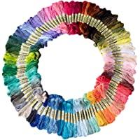 Friendship Bracelet String 50 Skeins Rainbow Color Embroidery Floss Cross Stitch Embroidery Thread Cotton Friendship…