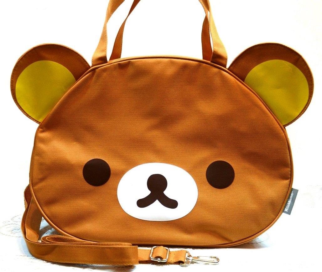7702721cacf6 Amazon.com  Jumbo Rilakkuma Beach Gym Weekend Travel Luggage Shoulder Bag  Handbag  Toys   Games